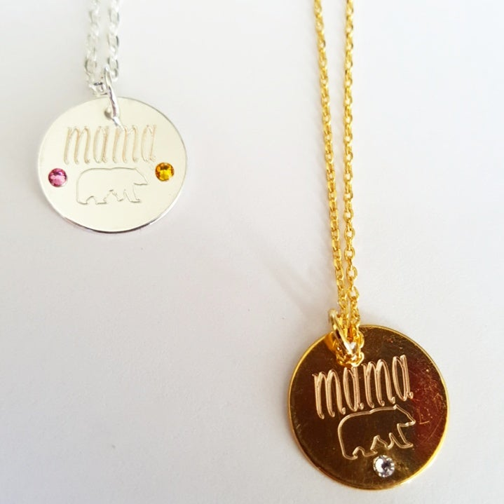 Image of Mama Bear Necklace with Birtstones