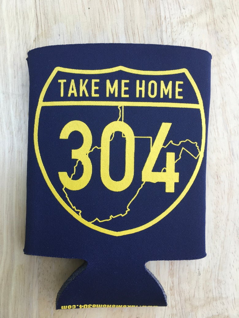 Image of Take Me Home 304 Koozie - Gold/Blue