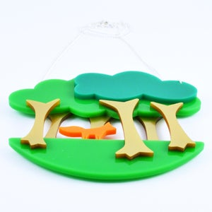 Image of Fox Cub in the Forest Necklace