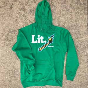 "Image of The ""Lit."" Hoodie in Green"