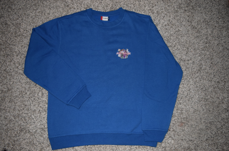 Image of LV loading INTERNET SICK - BLUE CREWNECK