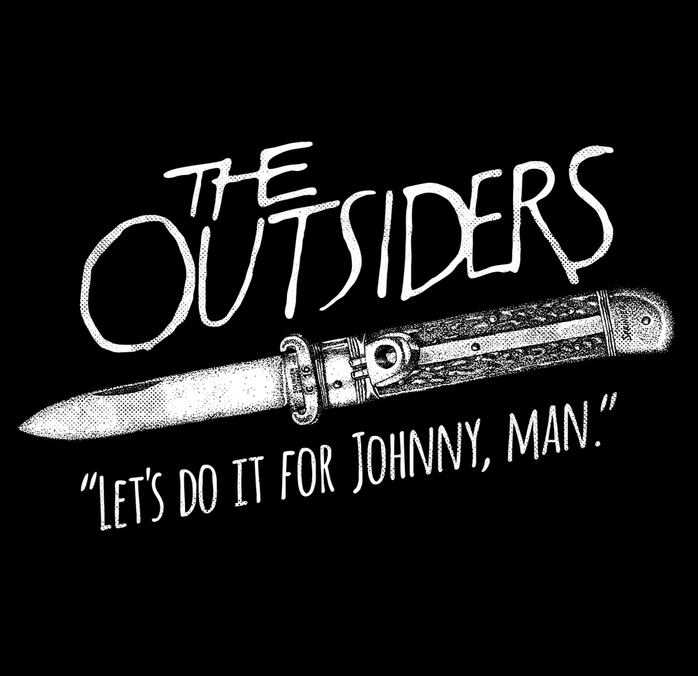 "Image of The Outsiders ""Let's Do It For Johnny, Man."" T shirts"