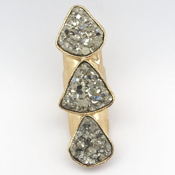 Image of Triple Pyrite Druzy (Gold)