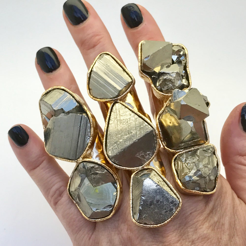 "Image of Triple Pyrite ""Mirror' Ring"
