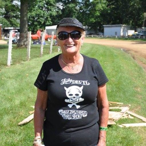 Image of Ladies Lucky Devil Scoop Neck T-Shirt