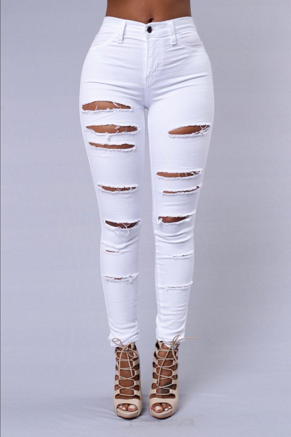 Slasher Jeans White