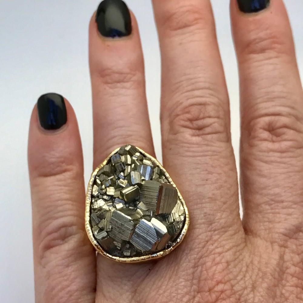 Image of Medium pyrite ring
