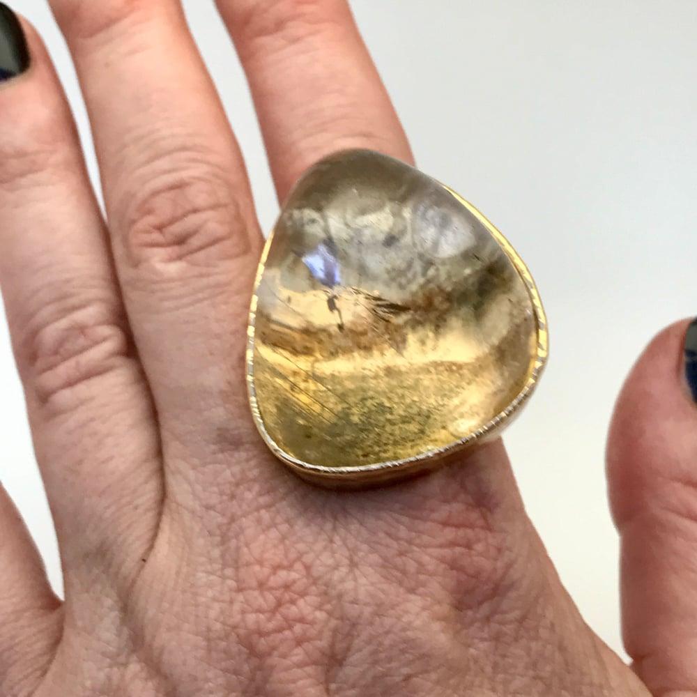 Image of Moss Quartz Ring