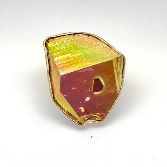Image of Aqua Aura Quartz Ring