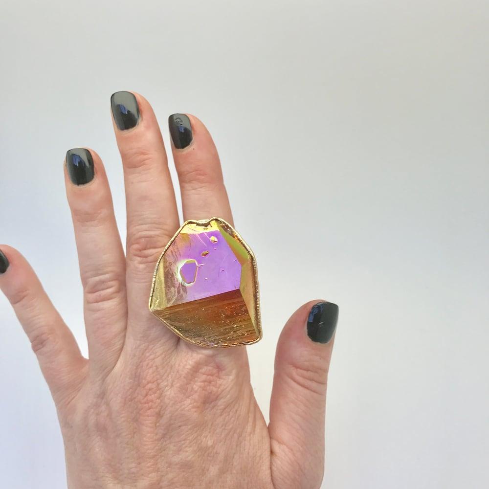Image of Aqua Aura Quartz Ring