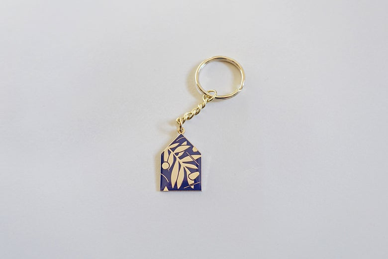 Image of House Keys enamel keyring