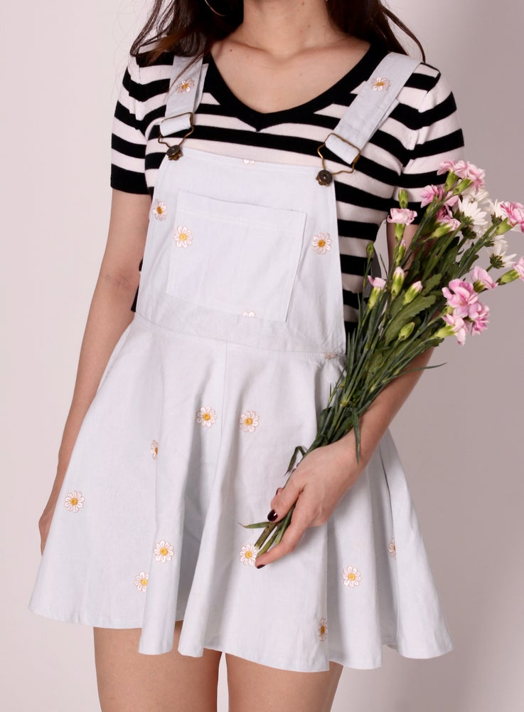 Image of Pale Blue Daisy Pinafore
