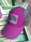 Image of Alaska Love Trucker Hat Velvet/Grey