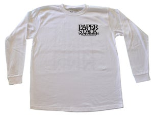 Image of NEW! Paperstack Apparel 'PS. Mono Grams' Long Sleeve Tshirt (Black/White)