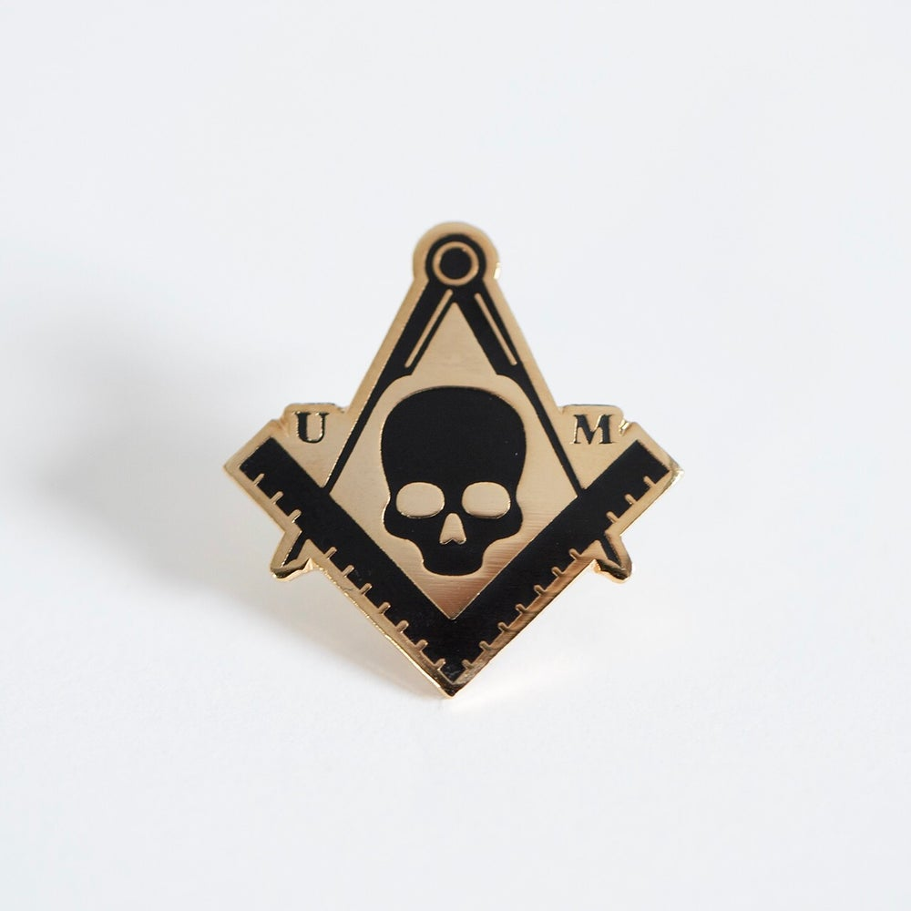 Image of Square & Compass Enamel Pin (GOLD)