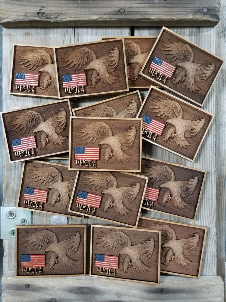 Image of MERICA! *WOOD PATCH*