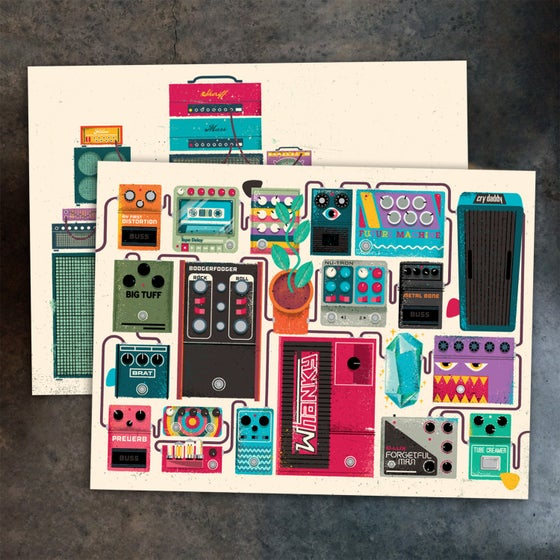 Image of Amp Stack and Pedalboard set