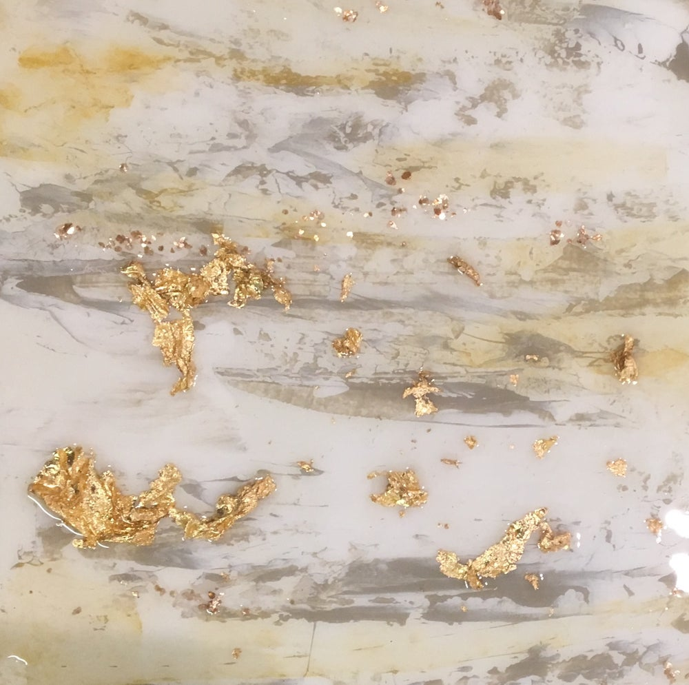 Image of Abstract with gold leaf