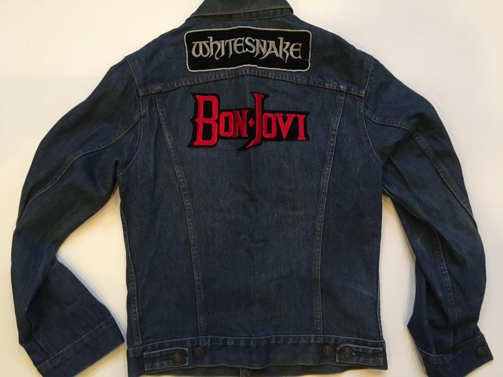 Image of Vintage Bon Jovi / Whitesnake Denim Jacket