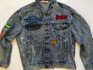 Image of Vintage 80s Rocker Stone Washed Jacket