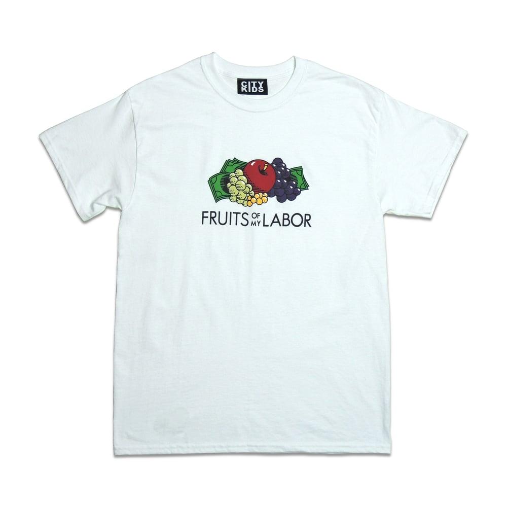 Image of Fruit$ Tee - White