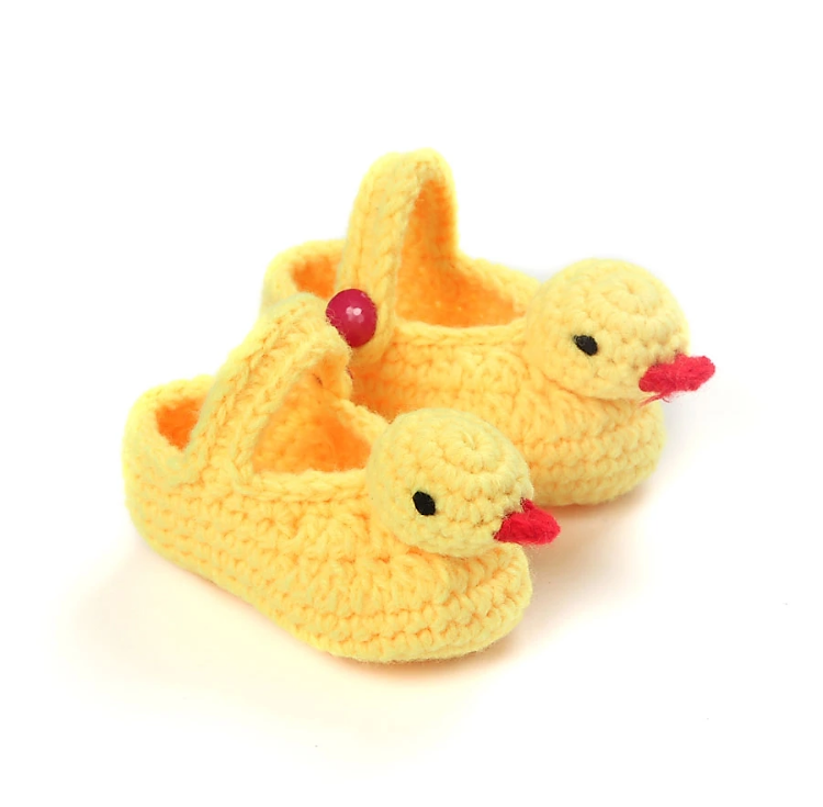 Image of Knitted ducklings baby booties