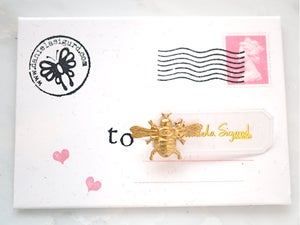 Image of Bee pin ,lapel pin ,gift for bee lover