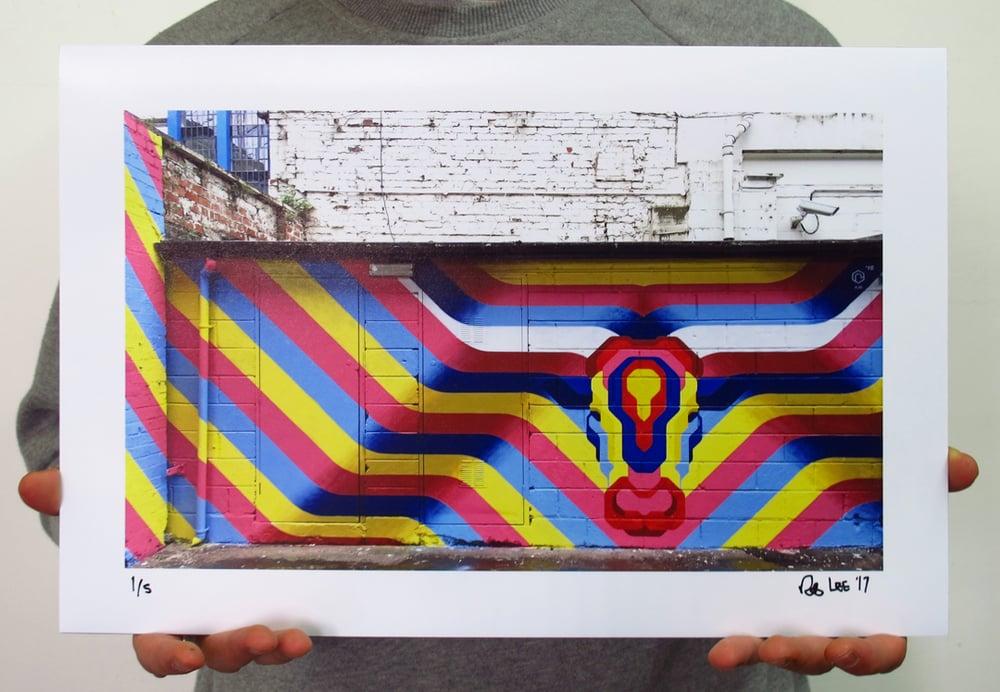 Image of City of Colours 2016 - Birmingham Bull mural print