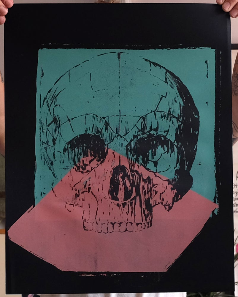Image of 'Warhol Skull' Print