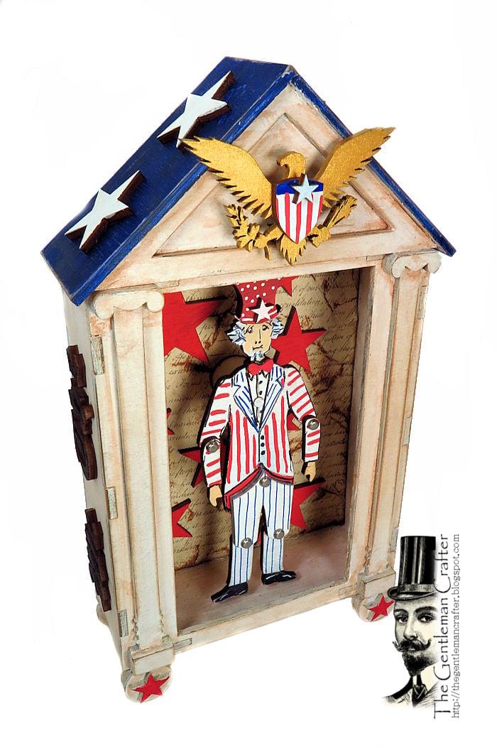 Image of Uncle Sam Wood Puppet Vignette Kit