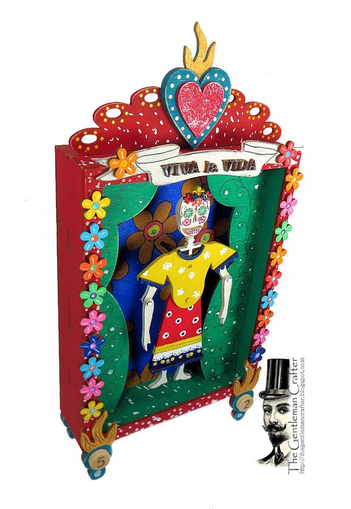 Image of Sugar Skull Puppet Vignette Kit