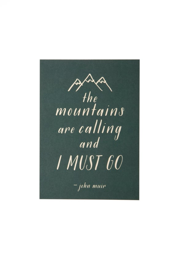 Image of The Mountains Are Calling 5x7 Art Print