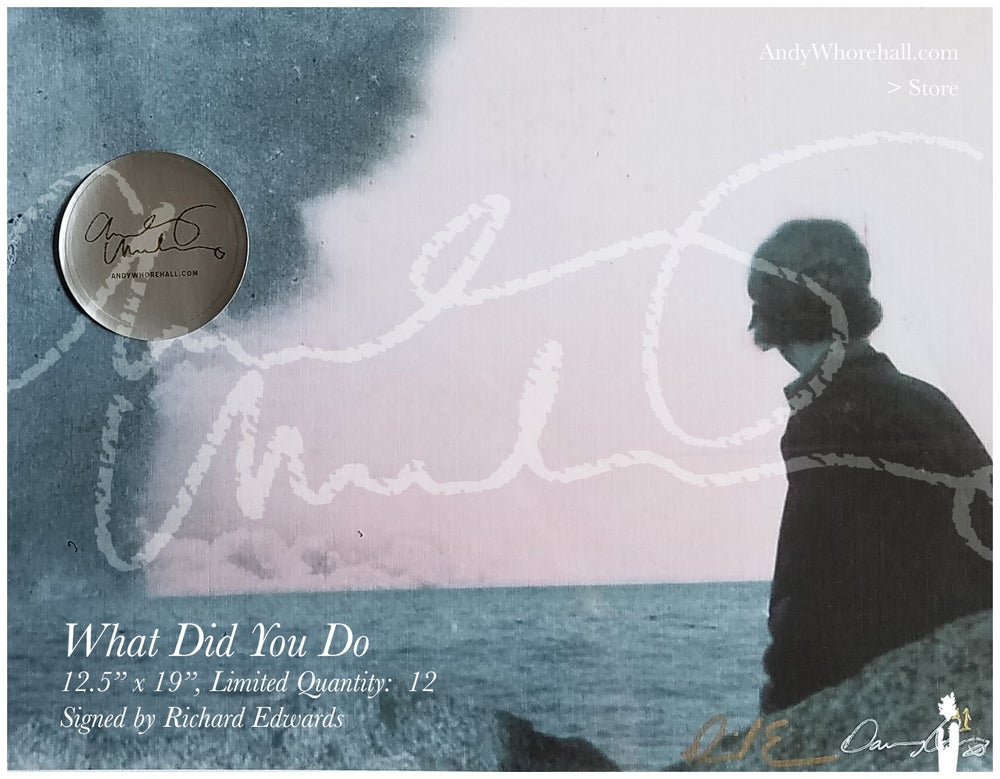 What Did You Do — Signed by Richard Edwards — Ltd. Qty (12)