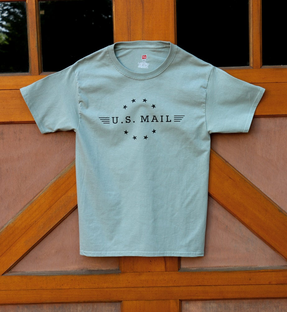 Image of U.S. Mail Tee - Stonewash Green