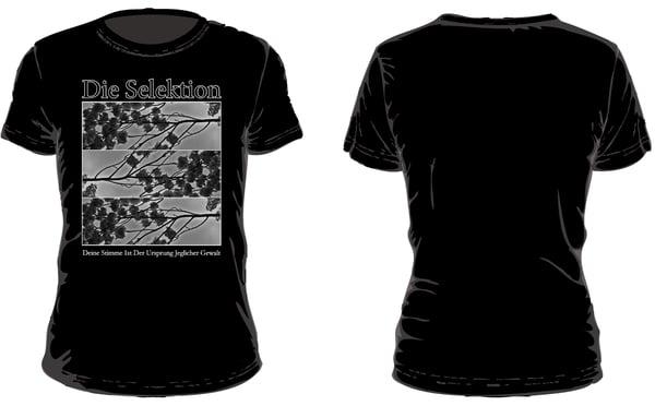 Image of Die Selektion - Deine Stimme Ist Der Ursprung Jeglicher Gewalt T-Shirt black