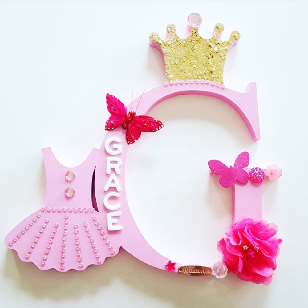 Image of Girls PRINCESS CUT Personalised Letters