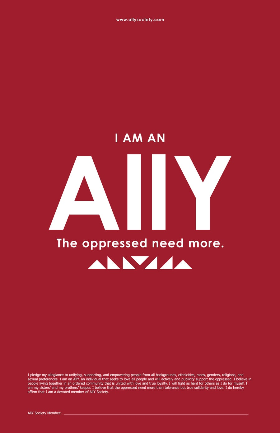 Image of Ally Pledge Poster