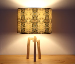Image of 'Summer Butterflies' Drum Lampshade by Lily Greenwood (30cm, Table Lamp or Ceiling)