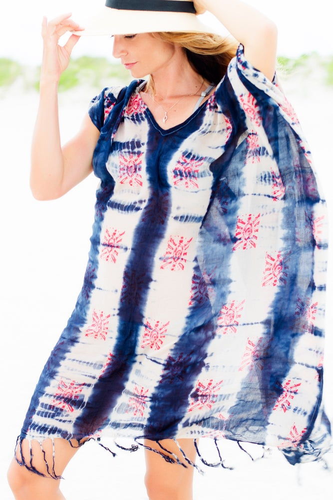 Image of Tie-dye Eyeprint Tunic/scarf