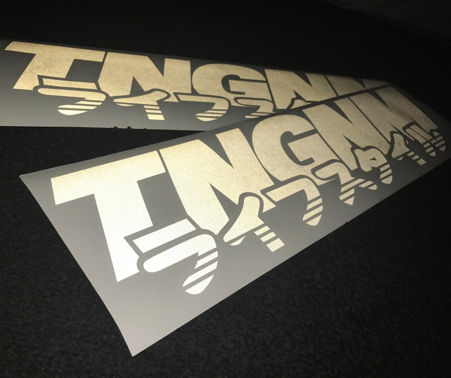 Image of TNGNM lifestyle die cut sticker