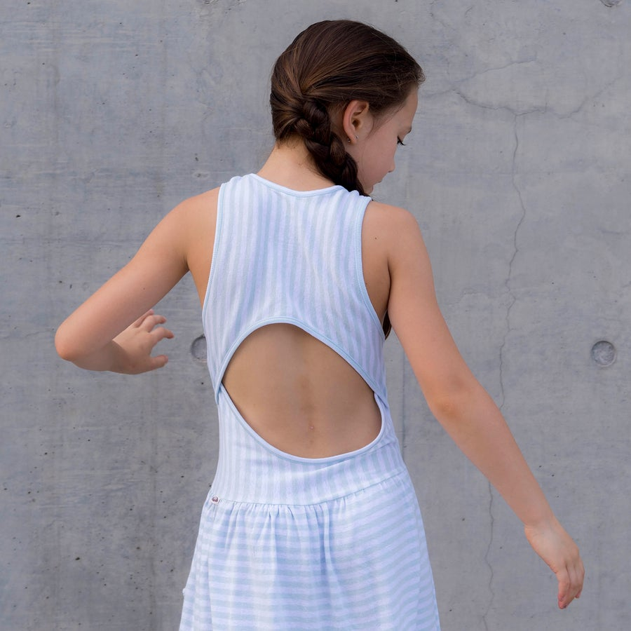 Image of Easy Breezy Dress . Blue Stripe