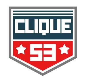 Image of Clique53 Crest vinyl decal