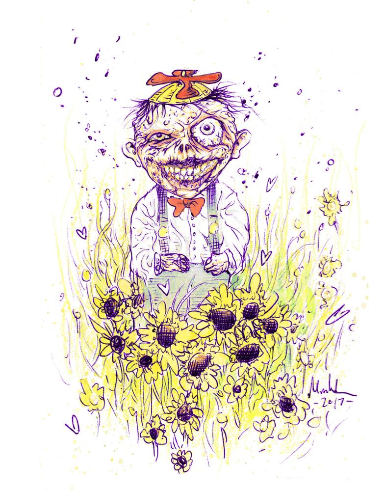 Image of ZOMBIE KID art print