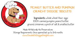 Image of Crunchy Peanut Butter & Pumpkin Doggie Biscuits