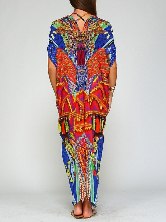 Image of Multi-Color Maxi Kaftan