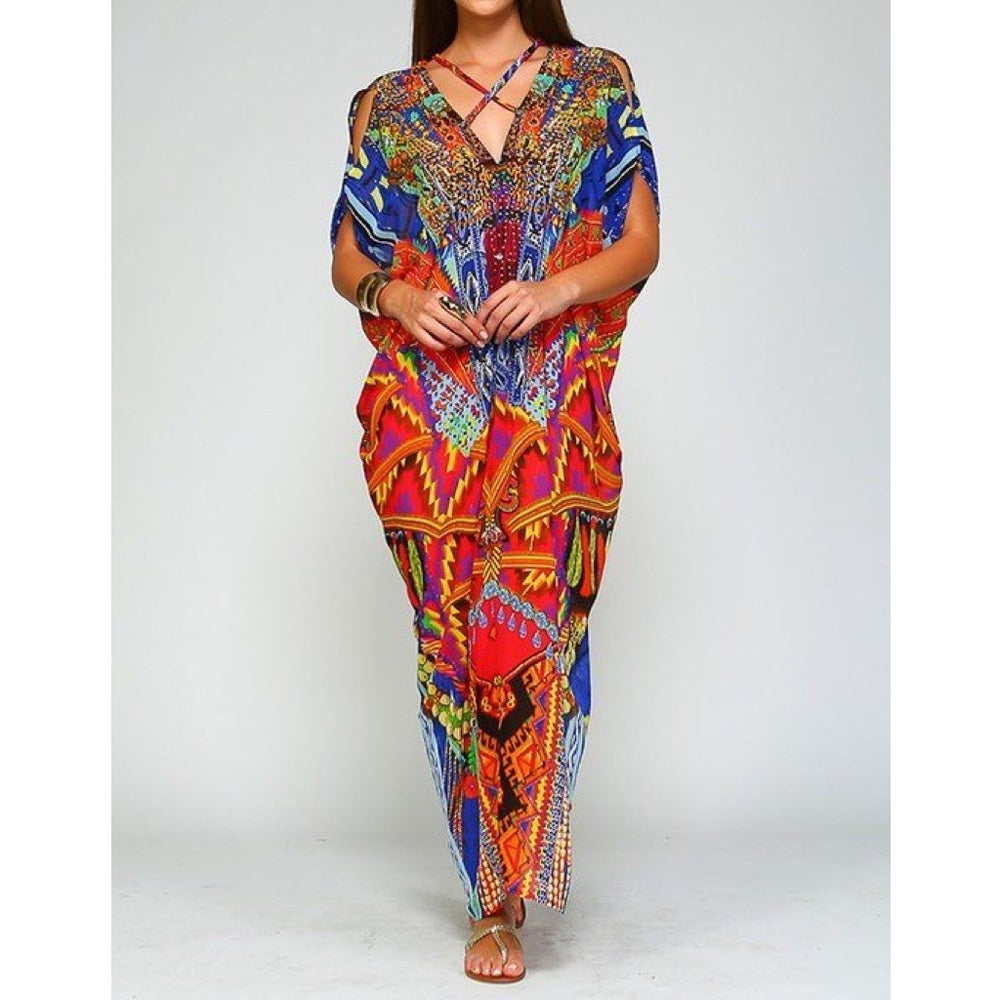 Image of Multi-Color Maxi Kaftan