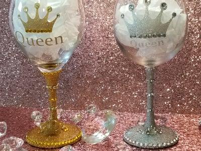 Image of Bling glam wine glasses