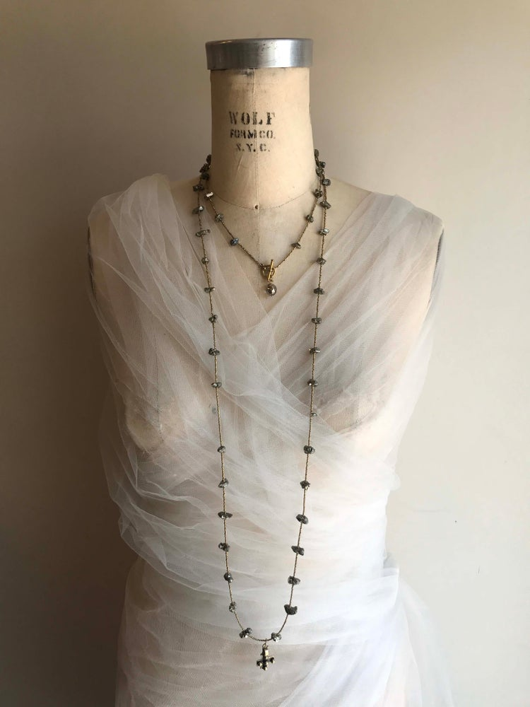 "Image of 60"" Vintage Spacer Necklace"