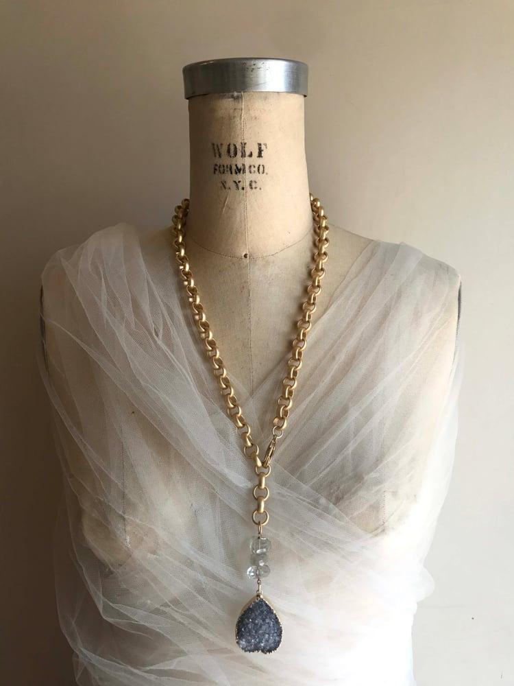 "Image of 24"" Matte Lariat Necklace"