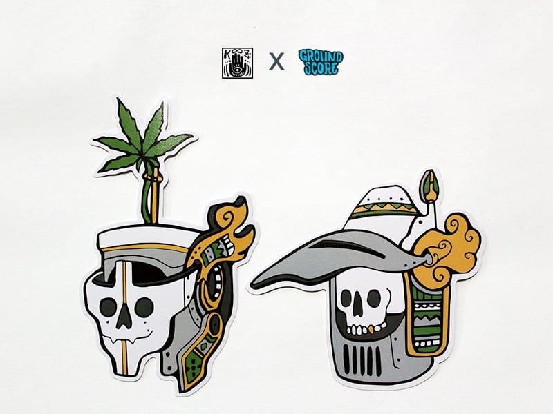 Image of KOOZ - Ganja White Night Stickers (5 Pack Combo)